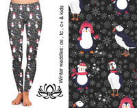 Winter Waddles Leggings