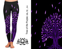 Purple Tree of Life Leggings