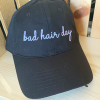 Bad hair day! Distressed Ball cap