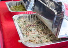 Homemade Coleslaw and Guacamole for Taco Toppings