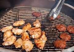 Sliders and Wings on the Grill