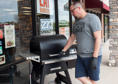 Dan Hathaway Cooking on a Traeger