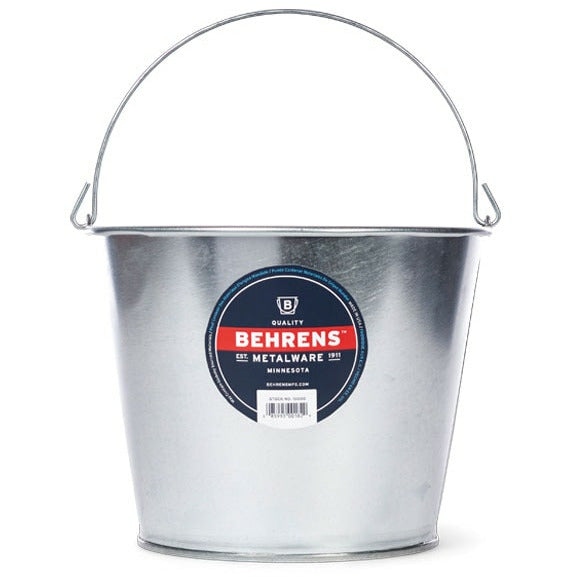 Behrens 5 Quart Galvanized Steel Pail - The Kansas City BBQ Store