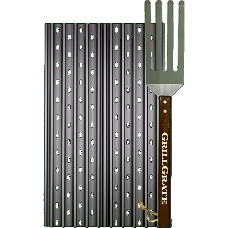 "GrillGrate 17.375"" Two Panel Set for Rectangular Grills - The Kansas City BBQ Store"
