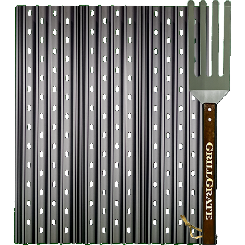"GrillGrate 18.8"" Three Panel Set for Most Large Pellet Grills - The Kansas City BBQ Store"