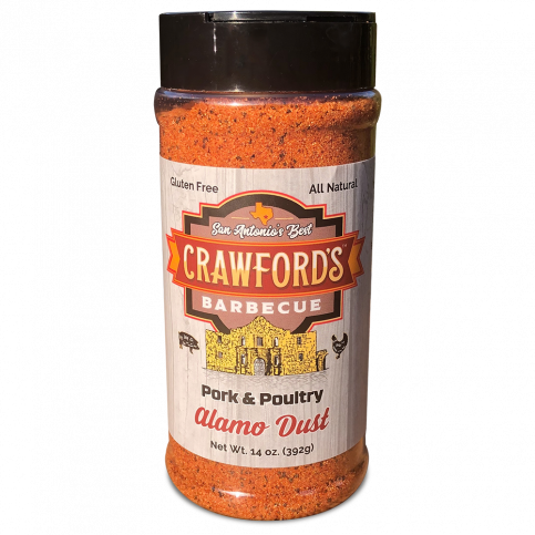 Crawford's Barbecue Alamo Dust Pork & Poultry Seasoning 14oz. - The Kansas City BBQ Store