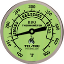 "Tel-Tru BQ300 Thermometer, 3"" Glow Dial, 4"" Stem - The Kansas City BBQ Store"