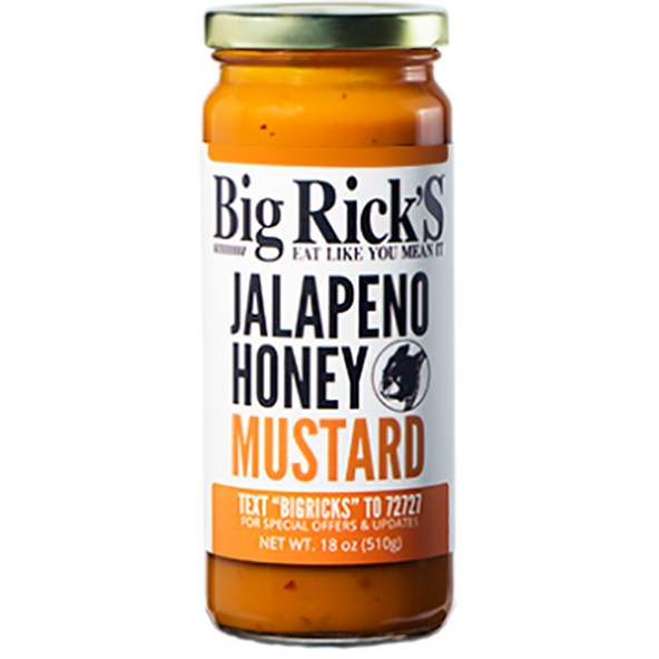 Big Rick's Jalapeno Honey Mustard 18 oz. - The Kansas City BBQ Store