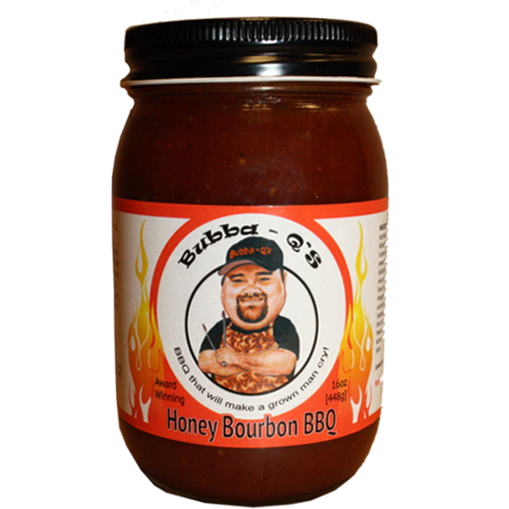Bubba-Q's Honey Bourbon BBQ Sauce 16 oz.