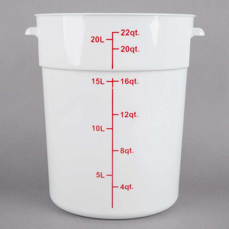 Choice 22 qt. Round Poly Food Container with Lid (Brine Bucket) - The Kansas City BBQ Store
