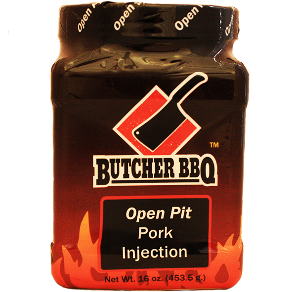Butcher BBQ Open Pit Pork Injection 1 lb. at The Kansas City BBQ Store