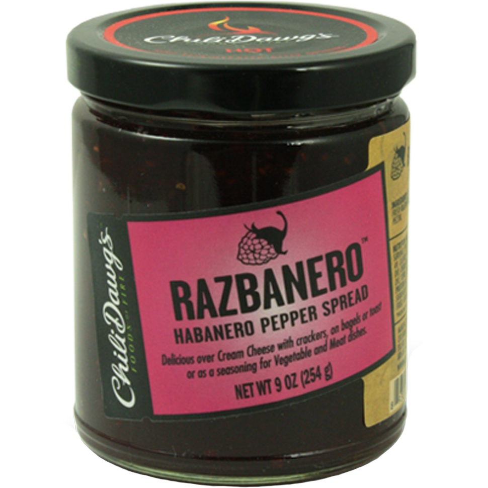 Chili Dawg's Razbanero Pepper Spread 9 oz. - The Kansas City BBQ Store