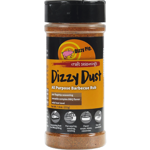 Dizzy Pig Dizzy Dust All Purpose Barbecue Seasoning 8 oz.