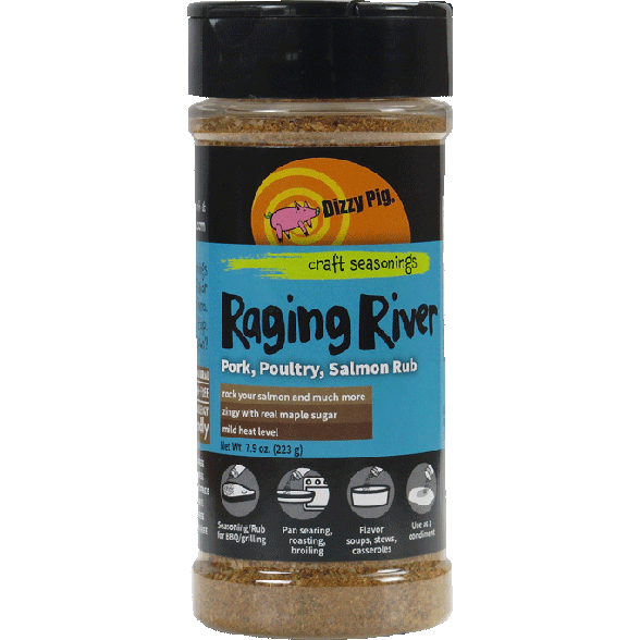 Dizzy Pig Raging River Poultry/Pork/Salmon Rub 7.9 oz.