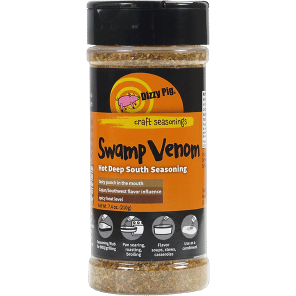 Dizzy Pig Swamp Venom Hot Deep South BBQ Seasoning 8 oz.