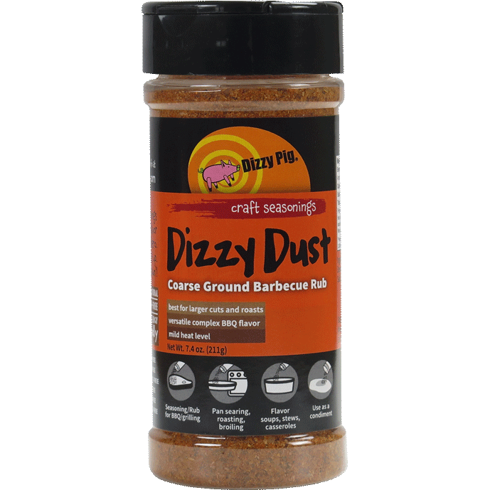 Dizzy Pig Dizzy Dust All Purpose  Coarse Ground Barbecue Seasoning 8 oz. - The Kansas City BBQ Store