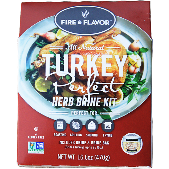 Fire & Flavor Turkey Perfect Herb Brine Kit at The Kansas City BBQ Store
