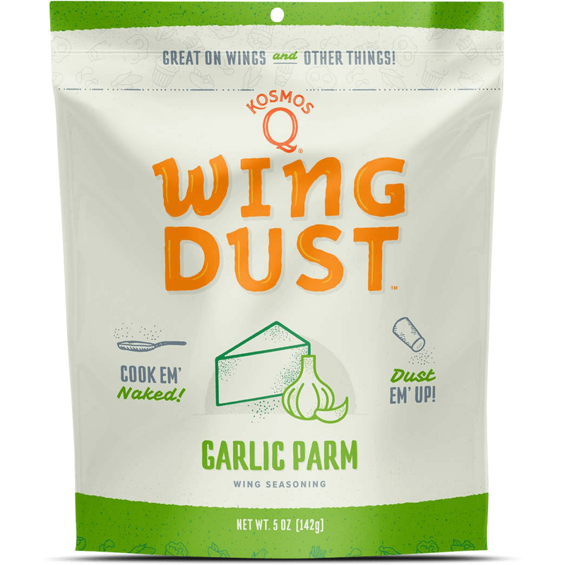 Kosmo's Q Kickin' Garlic Parm Wing Dust 5 oz. - The Kansas City BBQ Store