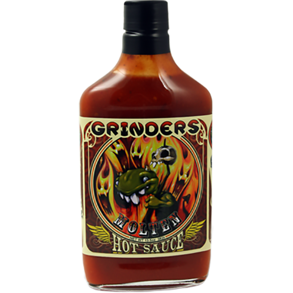 Grinders Molten Hot Sauce 13.5 oz. - The Kansas City BBQ Store