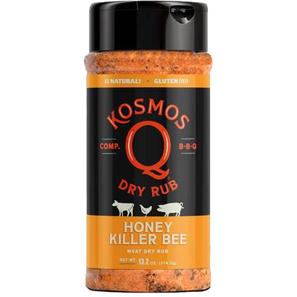 Kosmo's Killer Bee Honey BBQ Rub 13.2 oz.
