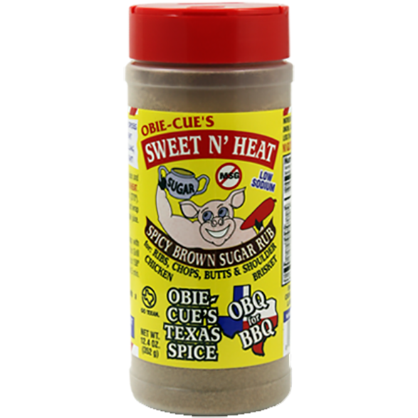 Obie-Cue's Sweet N' Heat Spicy Brown Sugar Rub 12.4 oz.