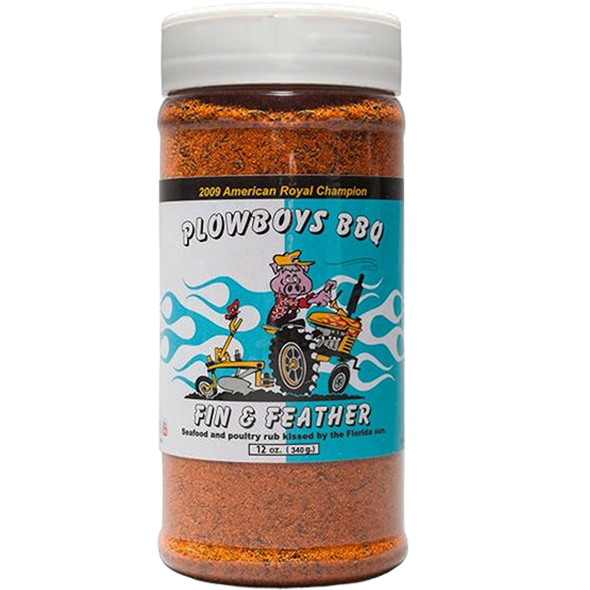 Plowboys BBQ Fin & Feather Rub 12 oz. - The Kansas City BBQ Store
