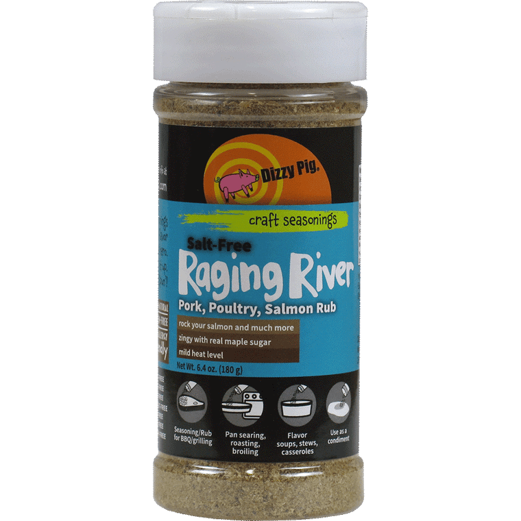 Dizzy Pig *SALT FREE Raging River Poultry/Pork/Salmon Rub 6.4 oz.