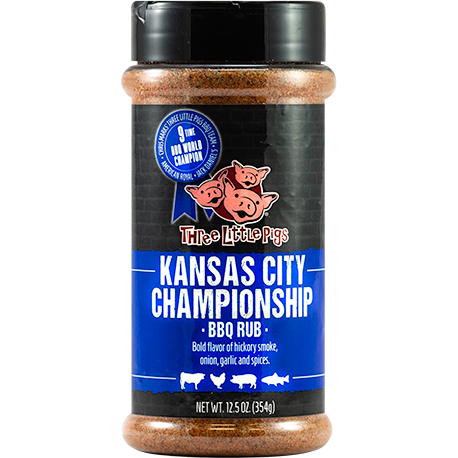 Three Little Pigs Kansas City Championship BBQ Rub  12.5 oz. - The Kansas City BBQ Store