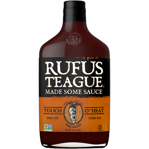 Rufus Teague Touch O' Heat Barbecue Sauce 16 oz. - The Kansas City BBQ Store