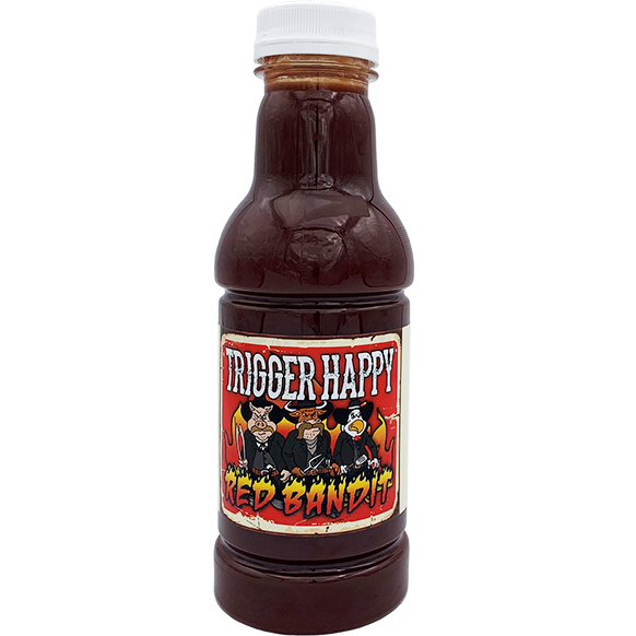 Trigger Happy Red Bandit BBQ Sauce 16 oz. - The Kansas City BBQ Store