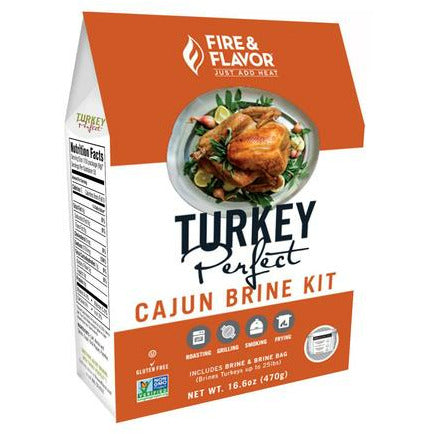 Fire & Flavor All Natural Turkey Perfect Cajun Brine Kit - The Kansas City BBQ Store