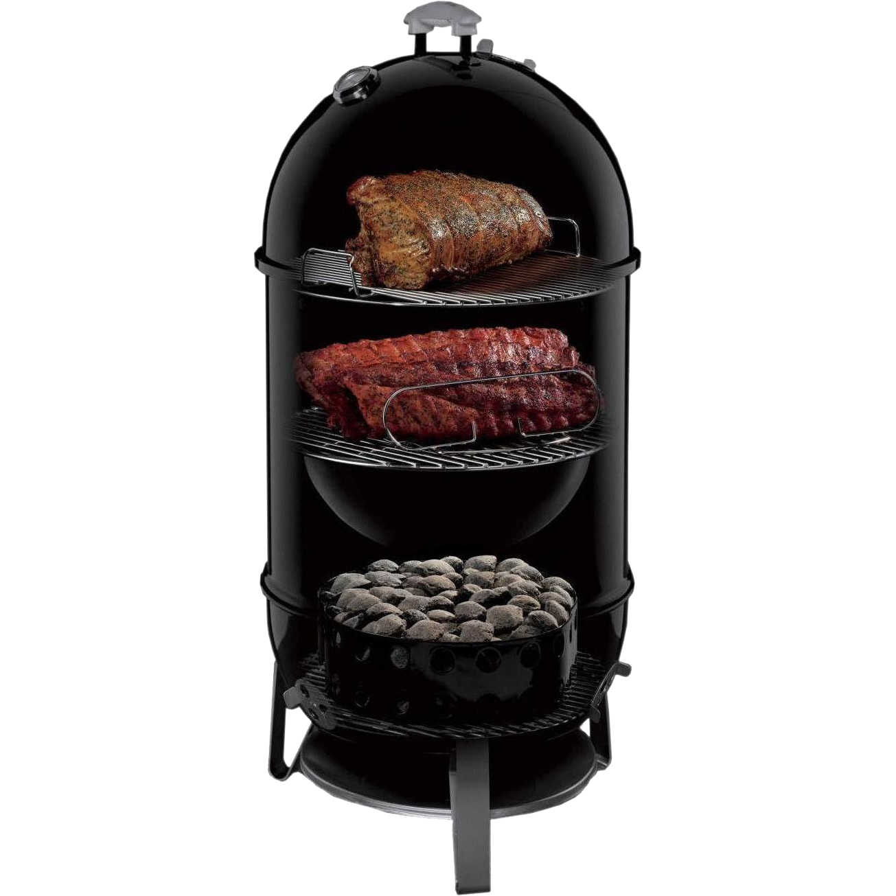 Weber Smokey Mountain Smoker >> Weber 18 Smokey Mountain Cooker The Kansas City Bbq Store