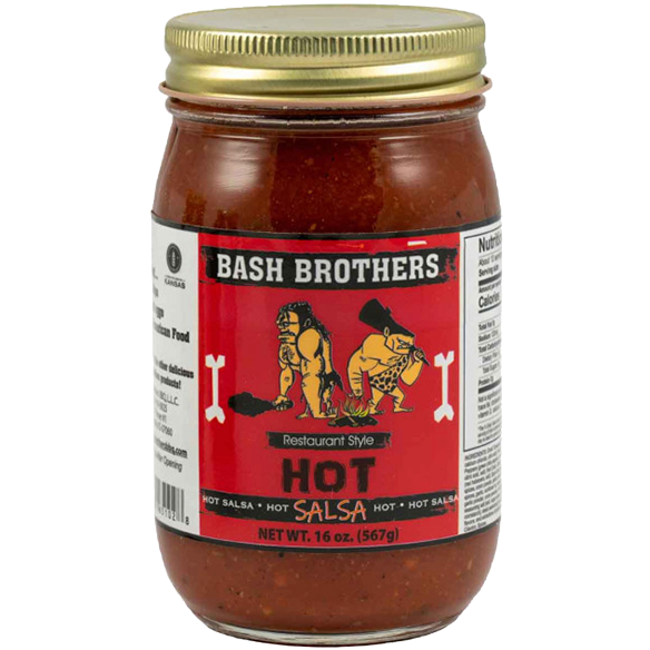 Bash Brothers Hot Salsa  16 oz.