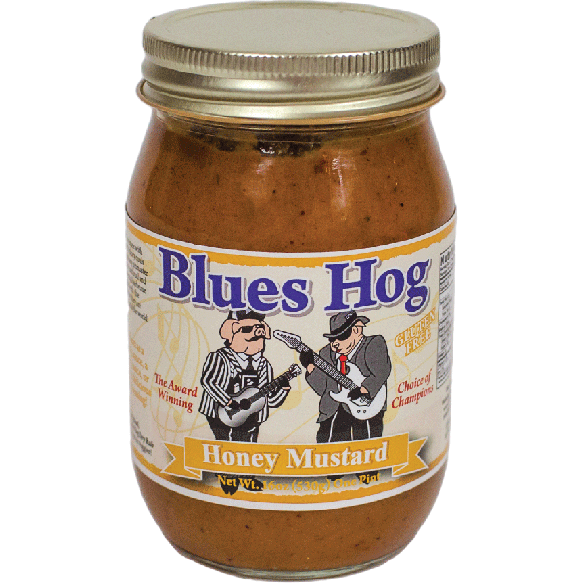 Blues Hog Honey Mustard 18 oz. - The Kansas City BBQ Store