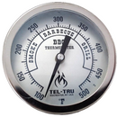 "Tel-Tru BQ500 Thermometer, 5"" aluminum dial, 4"" stem - The Kansas City BBQ Store"