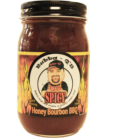 Bubba-Q's Honey Bourbon Spicy BBQ Sauce 16 oz.