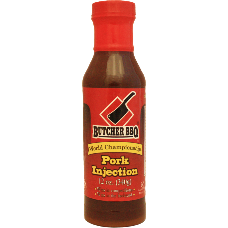 Butcher BBQ Pork Injection 12 oz. - The Kansas City BBQ Store