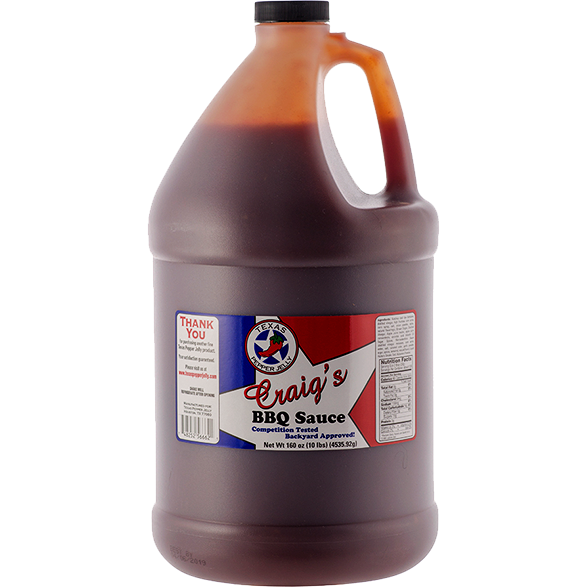 Texas Pepper Jelly Craig's BBQ Sauce 1 Gallon - The Kansas City BBQ Store