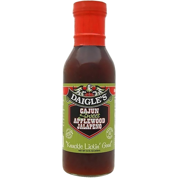 Daigle's Sweet Applewood Jalapeño Sauce 12 oz. - The Kansas City BBQ Store