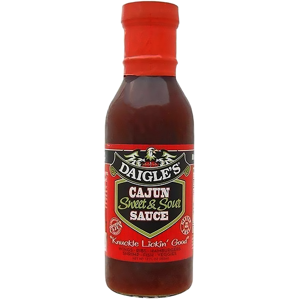 Daigle's Cajun Sweet & Sour Sauce 12 oz. - The Kansas City BBQ Store