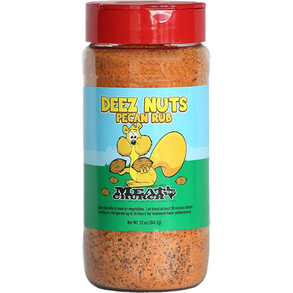 Meat Church Deez Nuts Pecan Rub 12 oz. - The Kansas City BBQ Store