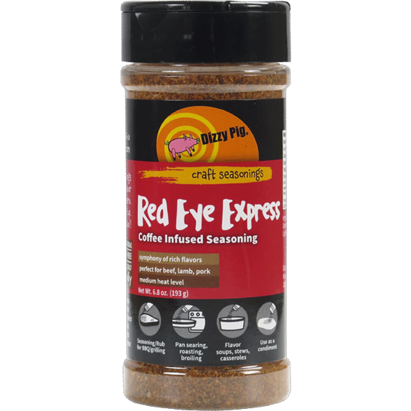 Dizzy Pig Dizzy's Red Eye Express Coffee-Infused BBQ Rub 8 oz.