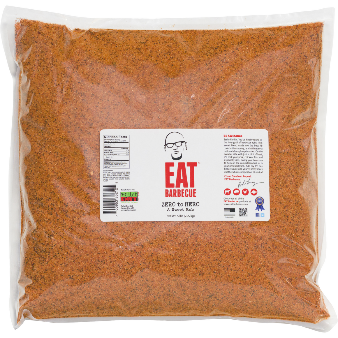 EAT Barbecue Zero to Hero Sweet Rub 5 lbs.