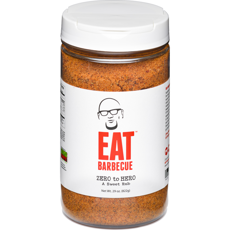 EAT Barbecue Zero to Hero Sweet Rub 29 oz. - The Kansas City BBQ Store