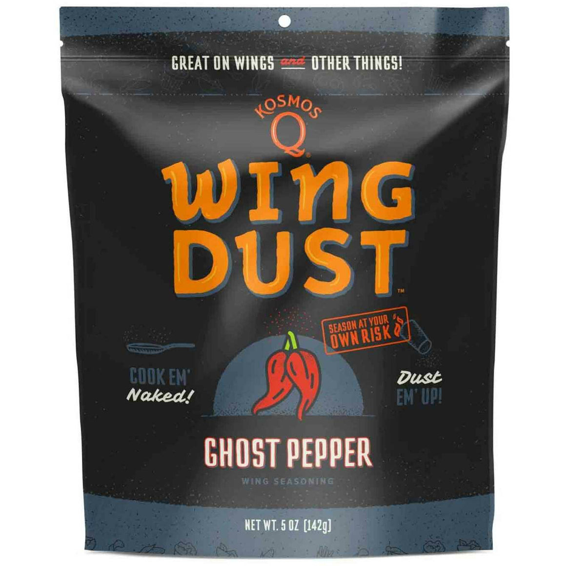 Kosmo's Q Ghost Pepper Wing Dust 5 oz.