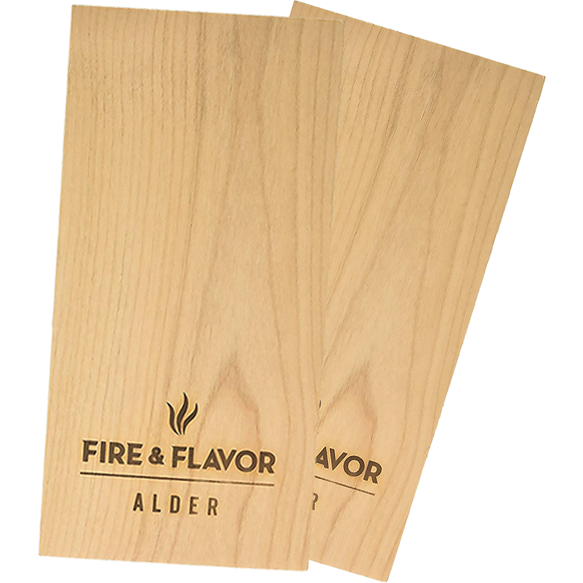 "Fire & Flavor Alder Grilling 11"" Planks 2-Pack - The Kansas City BBQ Store"