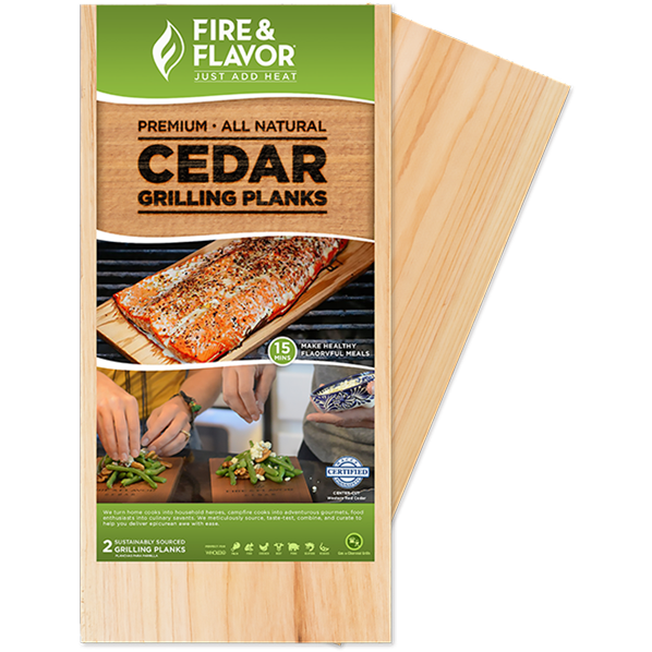 "Fire & Flavor Cedar Grilling 11"" Planks - The Kansas City BBQ Store"