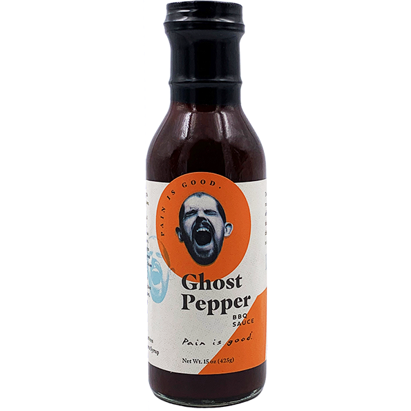 Pain is Good Ghost Pepper BBQ Sauce  15 oz. - The Kansas City BBQ Store