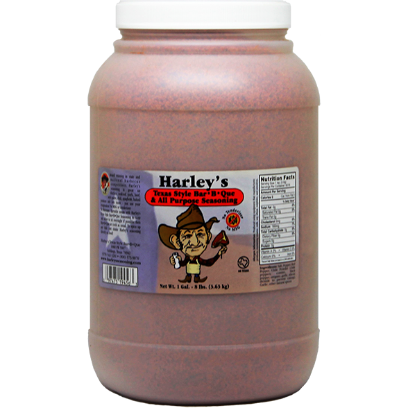 Harley's Texas Style Bar-B-Que & All Purpose Seasoning 8 lbs. - The Kansas City BBQ Store