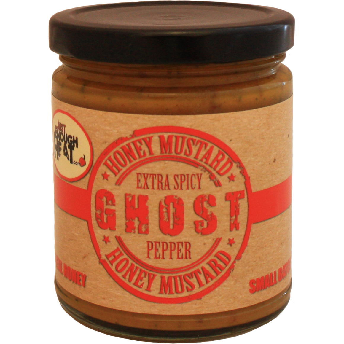 Just Enough Heat Ghost Pepper Honey Mustard 9.5 oz. - The Kansas City BBQ Store